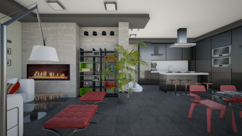 modern house - Living room  - by AndreaMTorres1