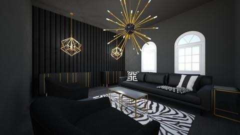 black living room - Modern - Living room  - by syli2726