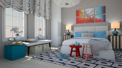 Plum Blossom  - Bedroom  - by Liu Kovac