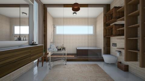 bath - Rustic - Bathroom  - by beafreitasb