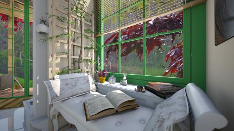 Enjoying a Rainy day - Modern - Living room  - by thefairysknight