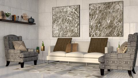 Gray Stone Living - Minimal - Living room - by millerfam