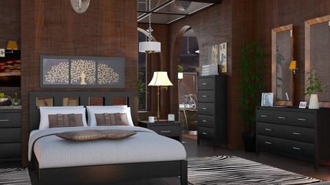 M_Dark bedroom - Bedroom  - by milyca8