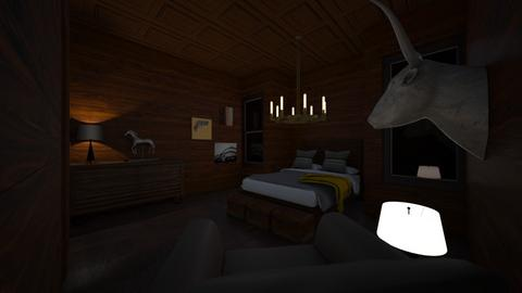 Brown - Rustic - Bedroom  - by BigG122