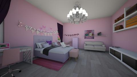 Pink and Purple Bedroom - Bedroom  - by brownbox