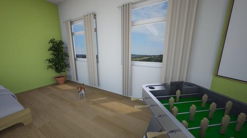filips room design - Bedroom - by zuziapawlowska