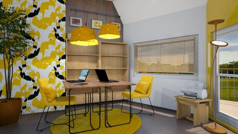 Yellow working space - Office  - by LaJuno98