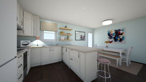 White Kitchen 2 - Eclectic - Kitchen  - by relkitto