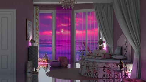 pink roses - by nat mi