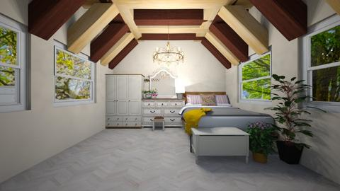 Attic bed outdoor - Bedroom  - by Idkwhy