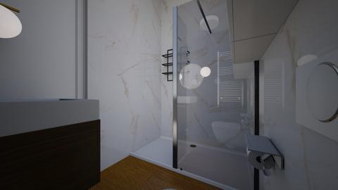 Lazienka dol mala V1 - Bathroom  - by asiaczerniawska