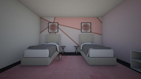 Cute Sister Girls Bedroom - Feminine - Kids room  - by Lambogirl