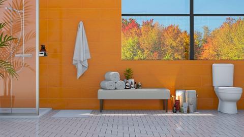 Orange Bath - Bathroom  - by deleted_1607099187_chocolatedonut71