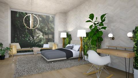 Jungle Bedroom - Bedroom - by CatsFurLife