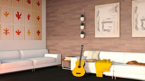 Wooden Wall - Modern - Living room  - by kitacat