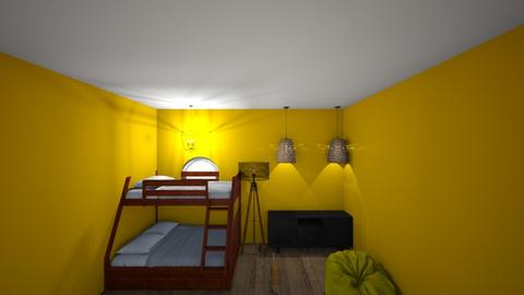 yellow room - Country - Bedroom  - by xavia170