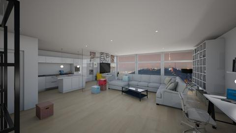 korean apartment - Living room - by cassidy15