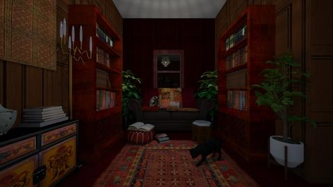 Library - Vintage - Living room  - by SerenWise