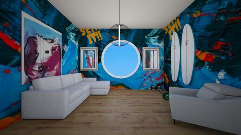 Favouraite wall paper__ - Living room  - by Aldio scoot kid