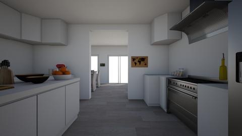 white - Kitchen - by bhavya21