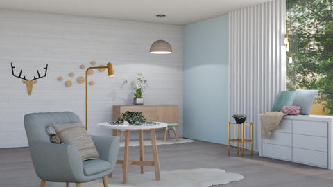 Cute Hallway - Feminine - Living room  - by evabarrett
