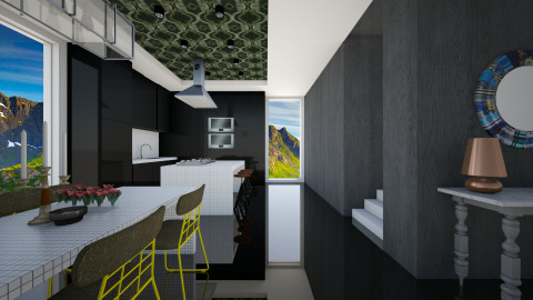 Open Dark Kitchen - Modern - Kitchen  - by 3rdfloor