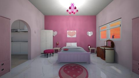 Mini girls apt bedroom - Bedroom  - by Hamzah luvs cats