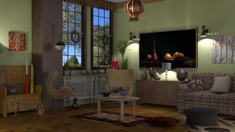 egg living - Living room  - by nat mi