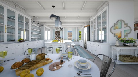 White Kitchen - by crosette