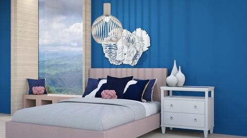 Navy and Blush Bedroom  CR - Bedroom  - by weinsteinkids