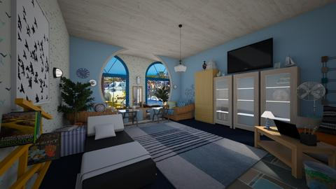 Greek Modern bedroom - Modern - Bedroom  - by PAPIdesigns