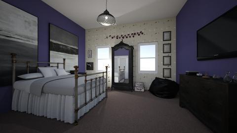 Dark - Vintage - Bedroom  - by NikLaurayne