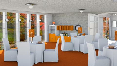 Orange and White 24th room - Modern - by shoalehnia