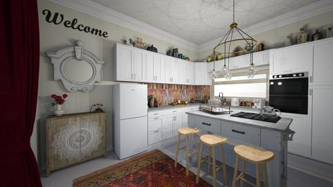 Kitchen Glam - Eclectic - Kitchen  - by Jodie Scalf