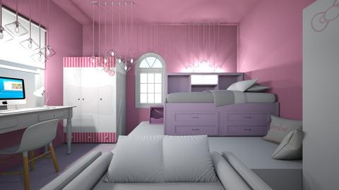 Pink bedroom - Bedroom  - by wps2034