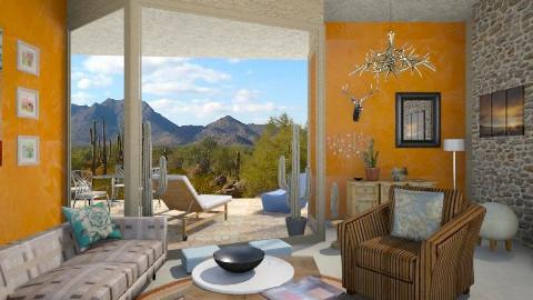 desert house - Rustic - Living room  - by shelleycanuck