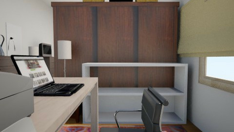 Bedroom-Office long view - Eclectic - Office - by AdreanaB
