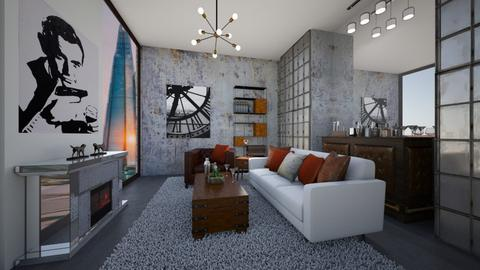 Stylish Dr No - Living room  - by Nikki Lipstick