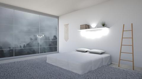 Simple Bedorom - Minimal - Bedroom  - by Taehyungie