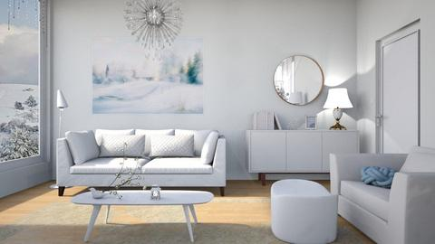 M_ White Christmas - Living room  - by milyca8