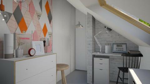 Orange Is The New Black - Modern - Bedroom  - by Maria Esteves de Oliveira