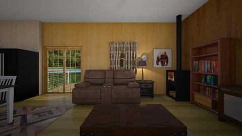 Cabin Getaway - Living room  - by mspence03