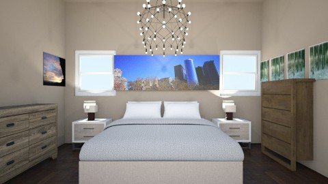 city life - Bedroom - by Harley Cleveland