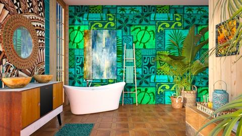 Tiki Style Bathroom - Bathroom  - by Feeny