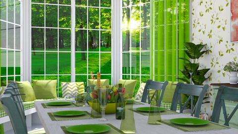 22 green dining - by mz_little_bit