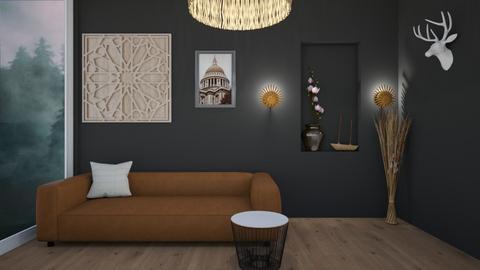 black living room - Living room  - by csd77
