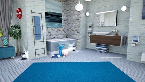 sea inspired - Modern - Bathroom  - by zayneb_17