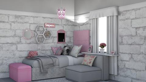 Girlie Bedroom Pastel - Bedroom - by creato