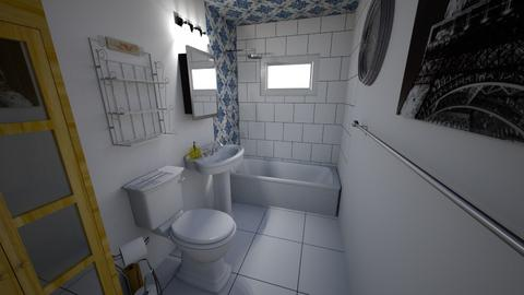 bathtile test sq subway - Eclectic - Bathroom  - by Meli12