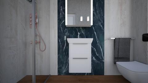 Bagno ospiti legno bianco - Bathroom  - by natanibelung